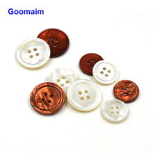 50pcs natural color 4 holes shell buttons 15 mm 20 small flower decorative shirt for crafts sewing