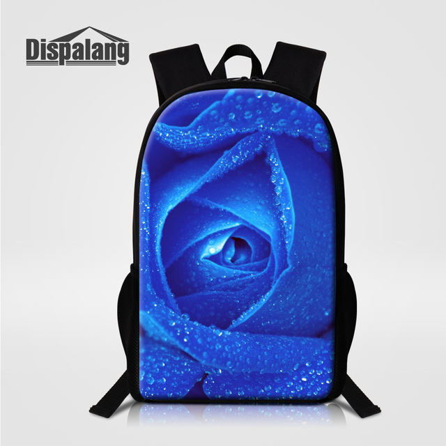 Dispalang Flower Floral Women s Backpack Blue Rose Children School Bag For Teenage  Girls Travel Back Pack Bookbag For High Class ccb2bc194d01f
