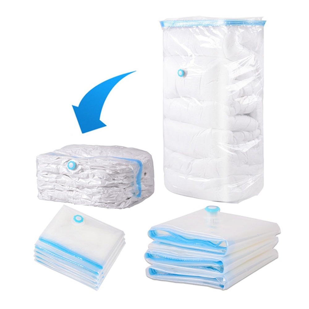 Newest Plastic Saver E Savings Storage Bag Vacuum Seal Compressed Organizer Package For Family