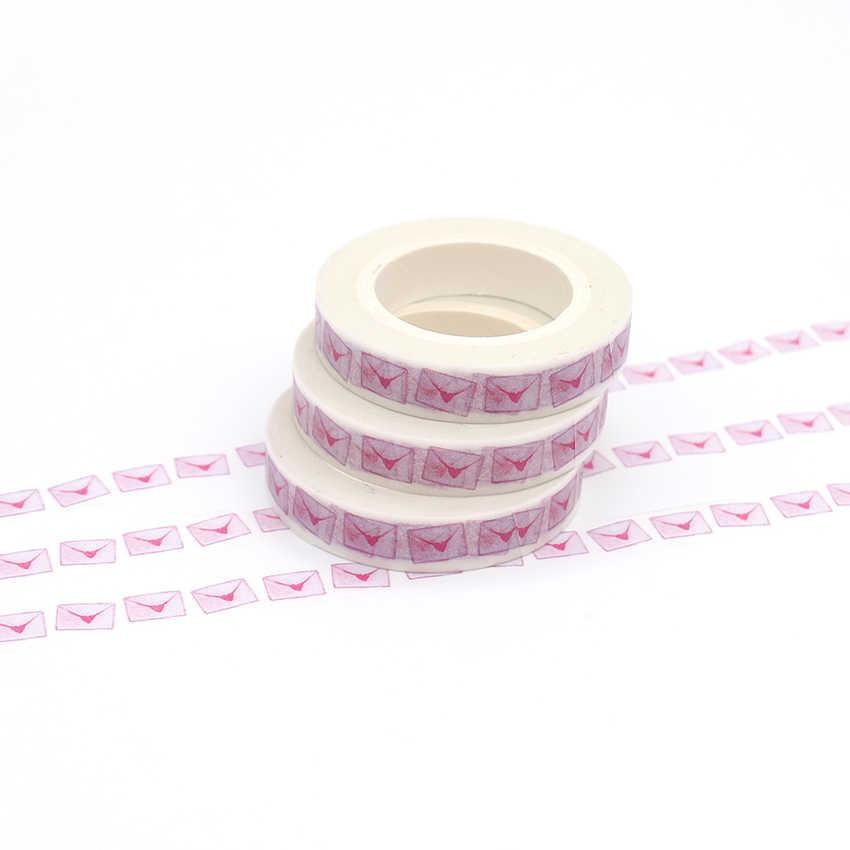 1 Uds creativo Kawaii sobre cinta adhesiva decorativa Washi de oficina cintas cinta Washi japonesa DIY Scrapbooking etiqueta engomada 10m * 8mm