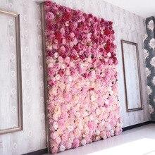Искусственные цветы на стену 62*42 см розы гортензии цветок фон Свадебные цветы для дома вечеринки Свадебные украшения Аксессуары
