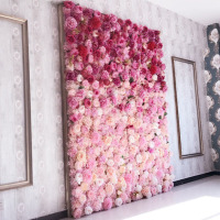 Artificial flower wall 62*42cm rose hydrangea flower background wedding flowers home party Wedding decoration accessories