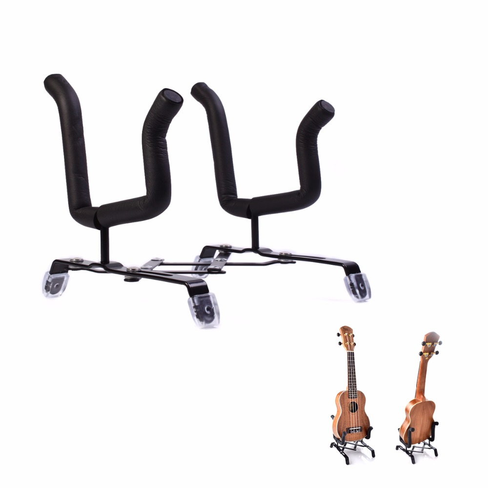 Foldable Metal Hot selling Ukelele Bracket Space-saving Design Stent Shelf pad with Foam Protection Ukulele Violin Stand