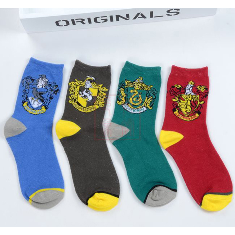 Adult Gryffindor Slytherin Hufflepuff Ravenclaw Stocking Winter Warm Anime Short Sock  For Women Girls Lovely Elastic Cute Gift