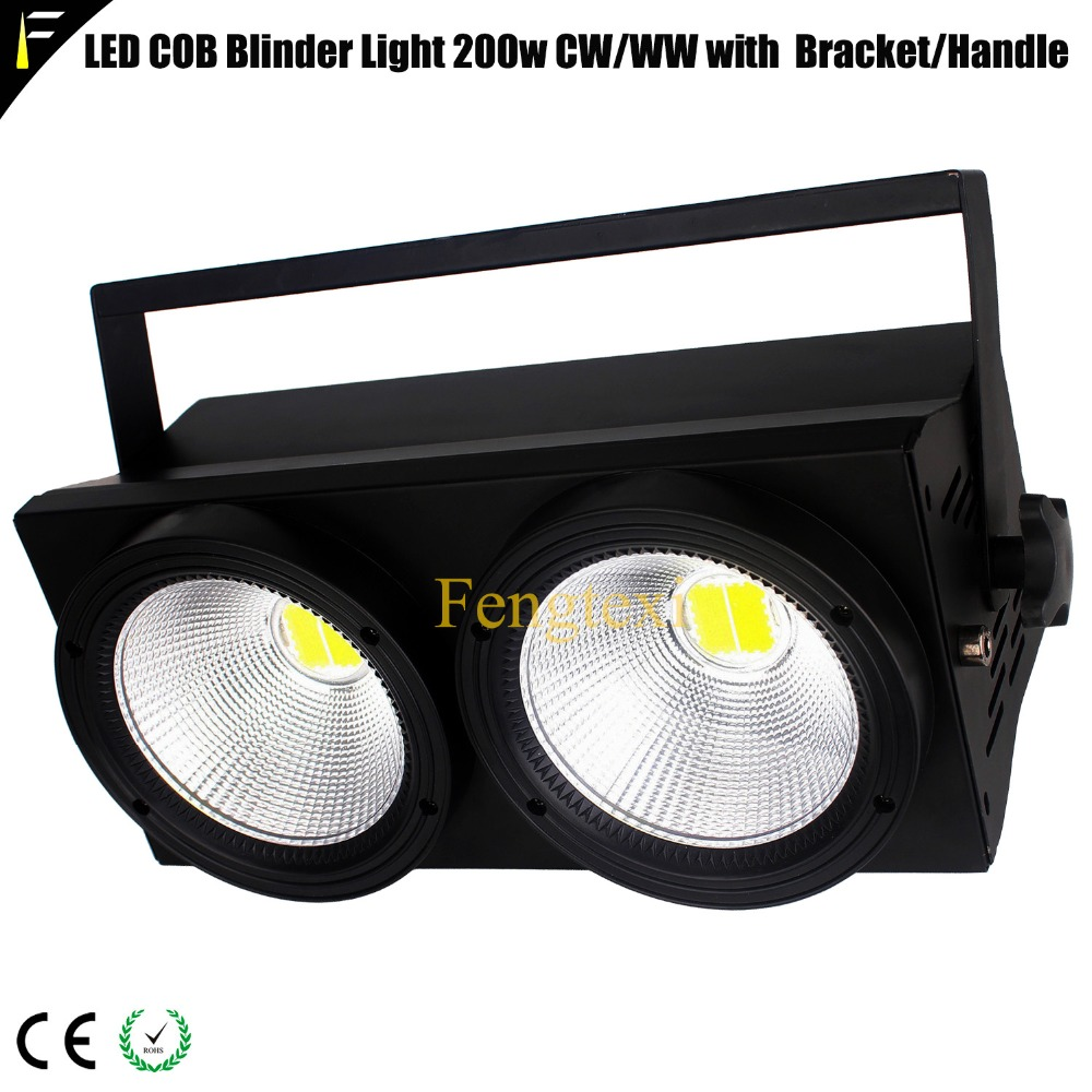 Stage Strobe LED Blinder 2 DMX 2x100w WW/CW 2in1 200w Photography Fill light Concert Warm Washing Blinder Audience LightingStage Strobe LED Blinder 2 DMX 2x100w WW/CW 2in1 200w Photography Fill light Concert Warm Washing Blinder Audience Lighting