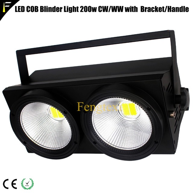 Stage Strobe LED Blinder 2 DMX 2x100w WW/CW 2in1 200w Photography Fill light Concert Warm Washing Blinder Audience Lighting