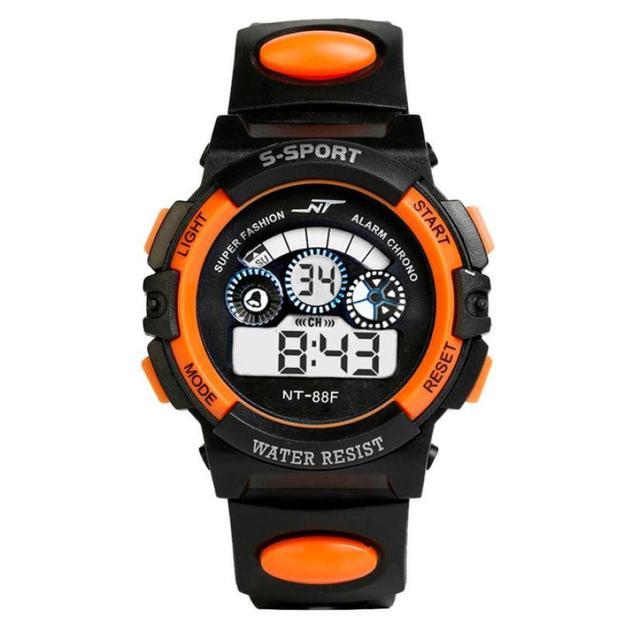 Moment # L04 2018 Fashion Waterproof Mens Boy's Digital LED Quartz Alarm Date Wrist Watch