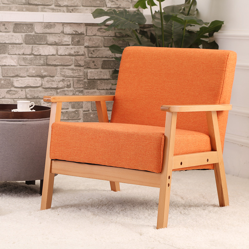 Modern Single Sofa Chair Upholstered Furniture Arm..