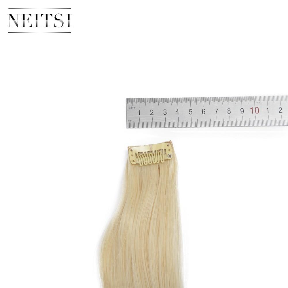 Купить с кэшбэком Neitsi 20' 7Pcs/Set Curly Clip in Synthetic Hair Extensions 613#