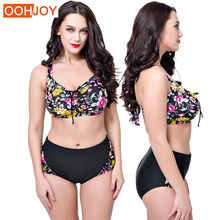 2018 New Plus Size Bikini Women Swimsuit Floral Print Bathing Suit High Waist Push Up Swimwear 4XL-8XL Summer Beachwear Bikini клавиатура проводная qcyber technic usb черный qc 03 005dv1