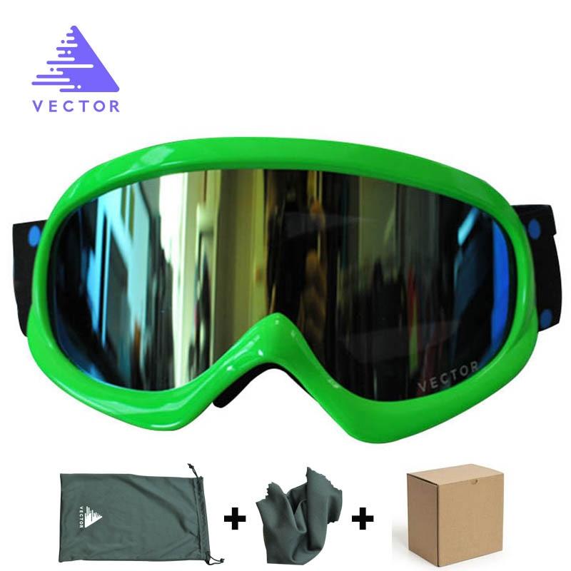 Вектор детей лыжные очки набор для Обувь для мальчиков Обувь для девочек двойные линзы Лыжный Спорт Очки UV400 Анти-туман Детские зимние штаны...
