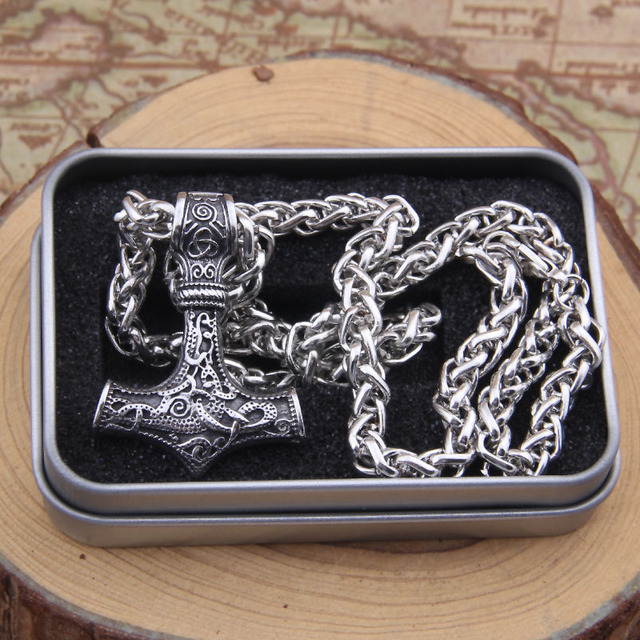 THOR'S HAMMER MJOLNIR VIKING NECKLACE
