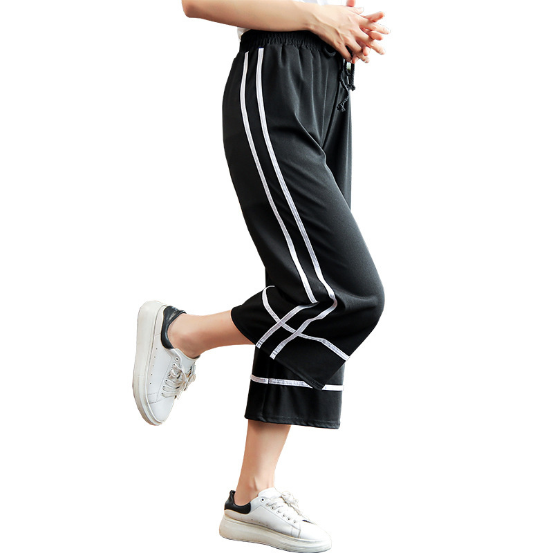 women's   pants   for women trousers   wide     leg     pants   plus size shein summer/women/harem   pants   Dip feeling seven-point stretch is thin