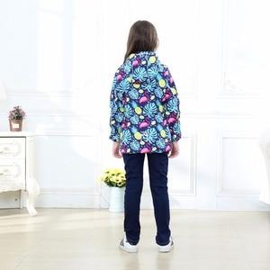 Image 4 - Waterproof Index 5000mm Warm Baby Girls Jackets Child Coat Polar Fleece Children Outerwear For 3 12 Years Old Winter Autumn