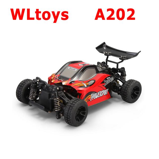 Wltoys A202 1/24 2.4 G escovado elétrico 4WD RTR RC Off road Buggy RTR
