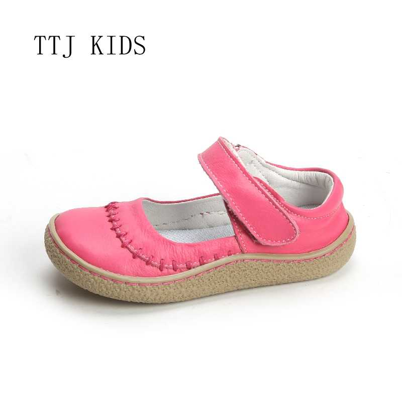 COPODENIEVE Top Merk Kwaliteit Echt Leer Kinderen meisje kids peuter Schoenen Voor Mode Barefoot Sneaker Mary Jane Gratis Schip