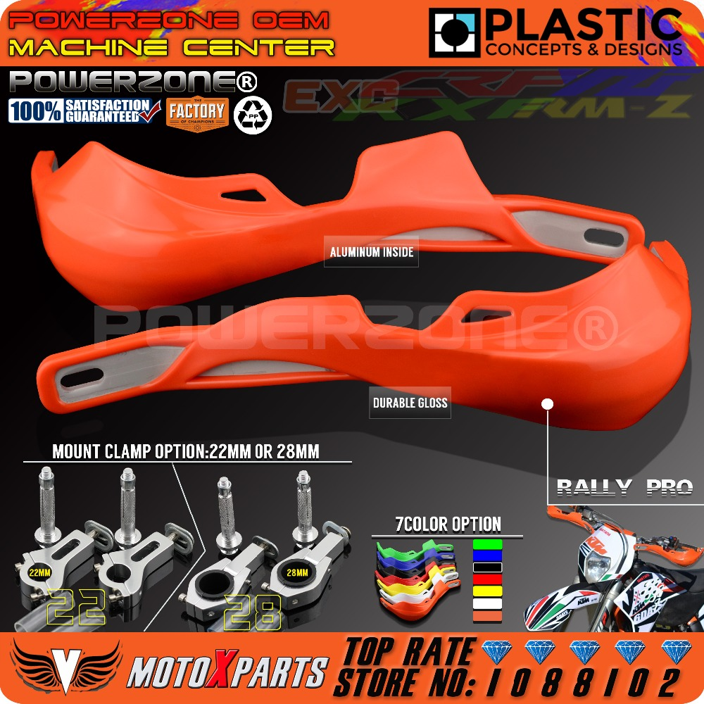 PowerZone Rally Pro Motorcycle Handguard Hand Guards Handguards Protector For KTM MX SX F Enduro EX C CRF YZF WRF KXF Motocross|handguard protector|motorcycle handguards hand guards|hand guards handguard - title=