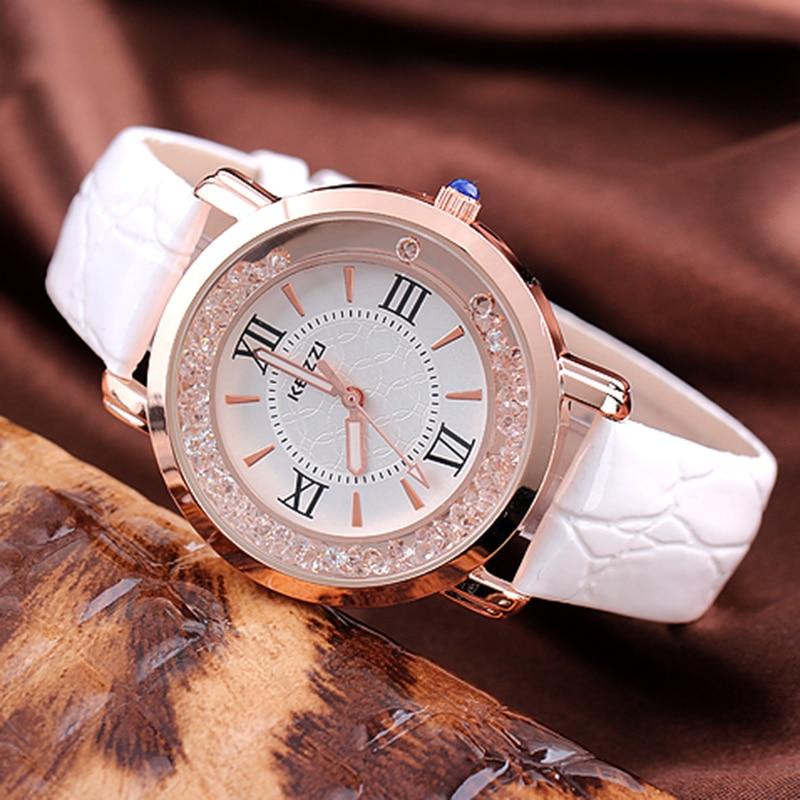 Prix pour KEZZI Marque Bracelet En Cuir Montres Femmes Robe Montre Relogio Dames Montres/Horloges Designer Dames Cadeau Quartz Montre/Reloj.