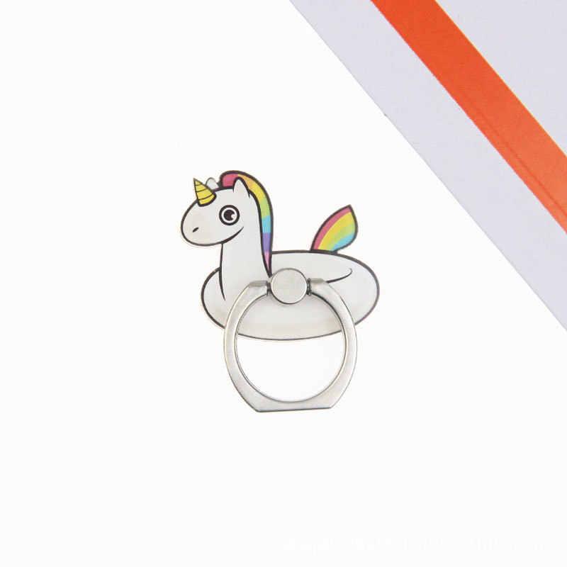 אוניברסלי צבע פוני אצבע טבעת נייד טלפון סלולרי חמוד קריקטורה מחזיק טלפון stand עבור iPhone 7 8 בתוספת X סוגר מחזיק