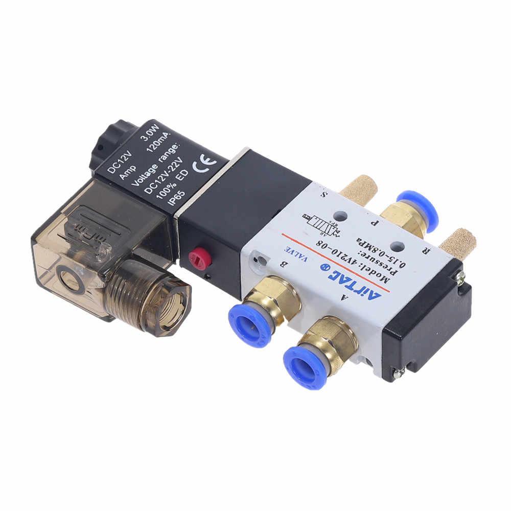 5 Путь 2 позиция электромагнитный клапан с 6 мм 8 мм 10 мм 12 мм штуцер 4V210-08 DC24V DC12V AC110V AC220V