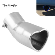 Auto parts car personality modification exhaust pipe 60mm heart-shaped muffler tail throat