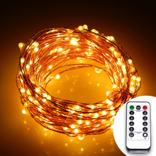 8Modes 12M 240 led 6AA Battery Powered Fairy String Light Lamp Waterproof For Christmas Holiday Wedding Party Copper Wire Lights