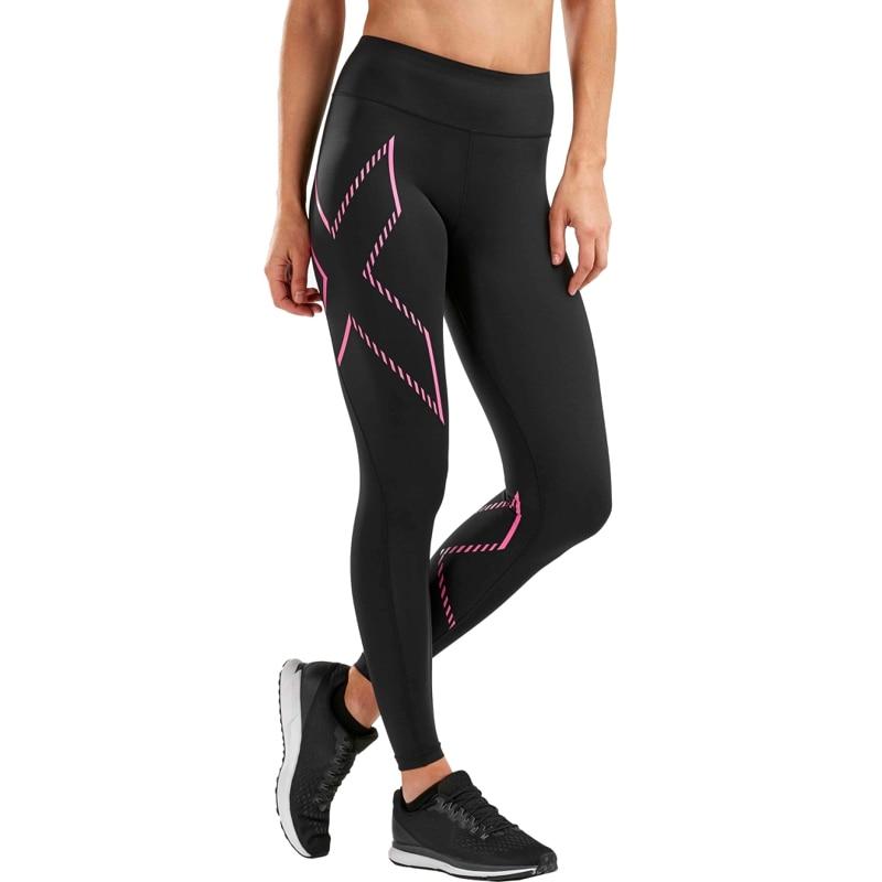 Female Compression Tights Mid-Rise 2XU Series Universal (Size S, Black / Pink) TmallFS цена