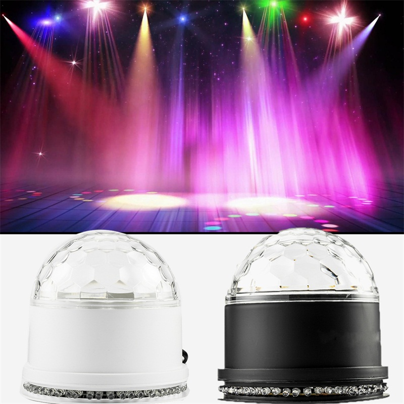 48 LED RGB Stage Light Sound Actived Mini Rotating Magic Disco Ball Strobe PAR Auto RGB Party Lights For DJ Dancing Show
