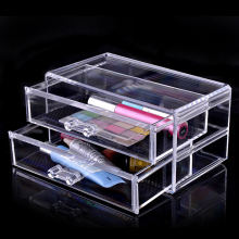 цена на Clear Makeup Organizer Cosmetic Acrylic makeup storage Case Display Box Jewelry Storage Holder No.10053