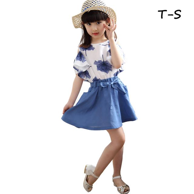 Nuevo 2016 de la moda Patrón Sólido del algodón del vestido de la muchacha vestidos de los niños vestido de los vestidos de los niños.