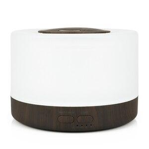 Image 4 - 에센셜 오일 디퓨저 가습기 우드 아로마 디퓨저 500 ml 홈 데스크탑 가습기 안개 메이커 led 야간 램프