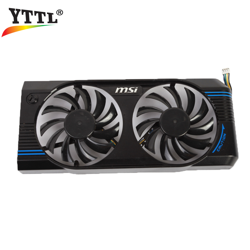 MSI N460GTX N560GTX V5 Graphics Video Card Cooling Fan PLD08010S12HH DC 12V 0.35A 4pin Dual Cooler Fans 2pcs lot video cards cooler gtx 1080 1070 1060 fan for msi gtx1080 gtx1070 armor 8g oc gtx1060 graphics card gpu cooling