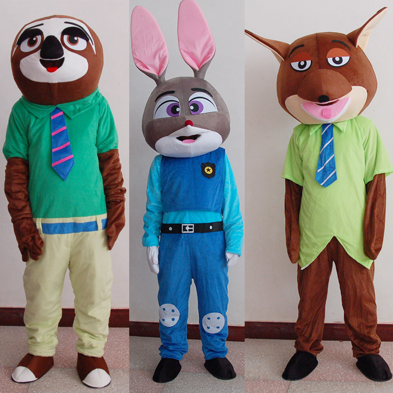 Adult animation cartoon puppet costume rabbit Judy fox tree cosplay jumpsuit puppet clothing Animal Costume cos suit