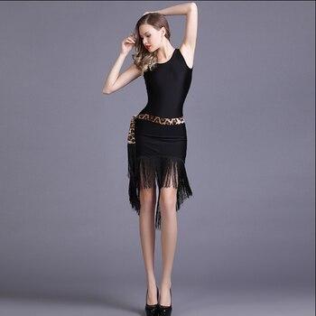 Latin Dance Dress Sexy Tassels Velvet franjas roupas danskleding Dancing Shirts Tanzrock Latein Samba vestido baile latino mujer