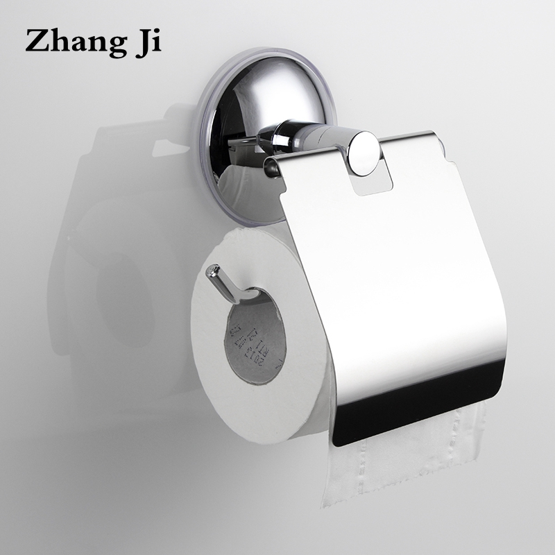 Stainless steel heavy duty toilet paper holder Wall mounted Bathroom fixtures silver color wc suction roll paper holders ZJ015 stainless steel toilet paper holder papier toilette encastrable wall mount wc paper holder bathroom roll paper holder basket