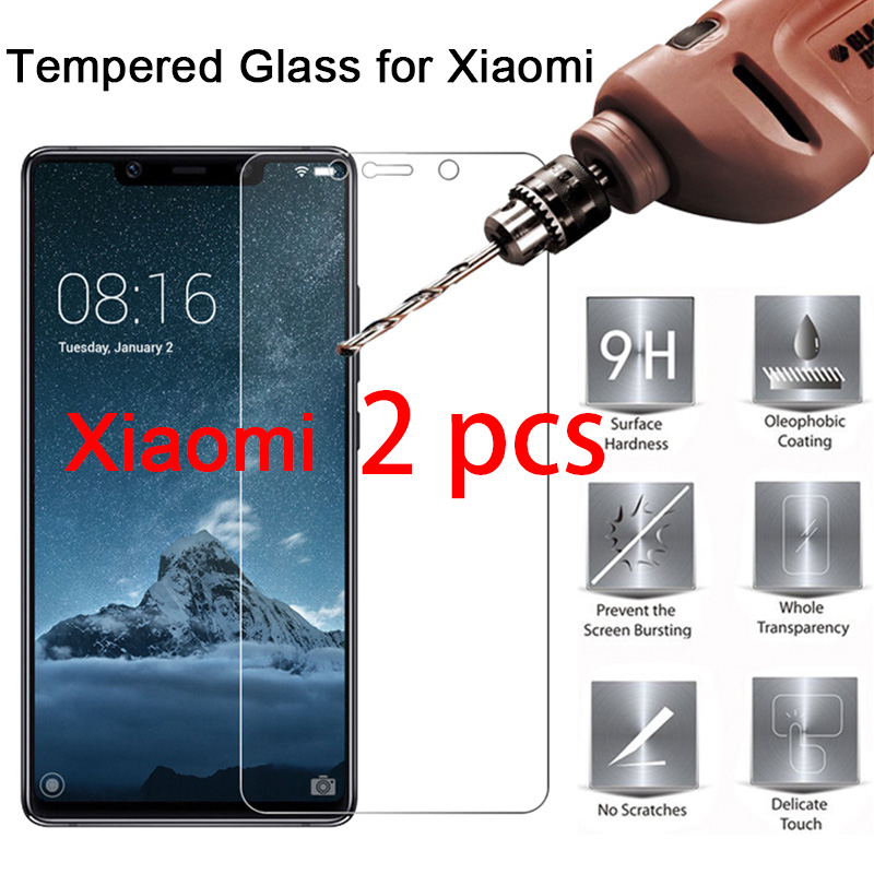2pcs! Tempered Glass For Mi 5 4S 4C 4i 3 2 9H HD Screen Protector For Xiaomi Mi A2 Lite A1 Protective Glass On Mi Pocophone F1