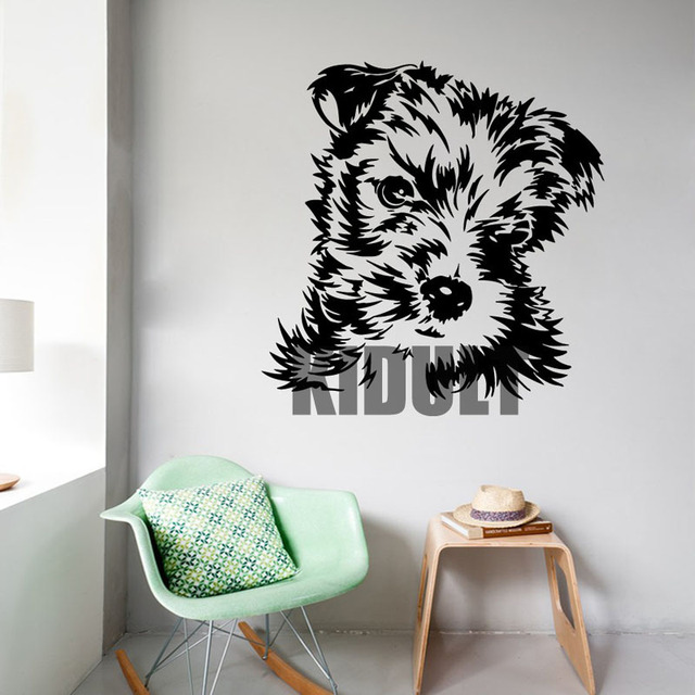 Yorkshire Terrier Dog Cute Animal Wall Stickers Vinyl Decals Bedroom Den Creative Home Decor Wall Art & Yorkshire Terrier Dog Cute Animal Wall Stickers Vinyl Decals Bedroom ...