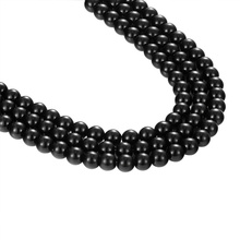 JAAFAR высокое качество натуральный черный свободные Бусины Полу-Готовые бусины ювелирные изделия из бисера аксессуары для соответствия diy