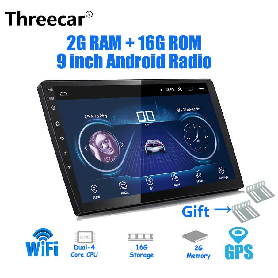 9/10 بوصة أندرويد 8.1 العالمي سيارة لاعب 2 din 2G RAM + 16G ROM راديو السيارة الاندورويد لتحديد المواقع والملاحة واي فاي بلوتوث MP5 الخلفية كام