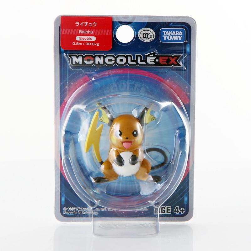 Takara Tomy Pokemon Moncolle-EX Sun Moon 4cm Mini Toy Collection Figure Raichu New in Box 975878 action figure pokemon