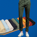 New Casual Men Spring Summer Thin Long Trousers Korean Fashion Cotton High Quality Slim Fit Straight Cheap Pants Plus Size 28-36