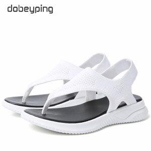 Image 5 - แฟชั่นตาข่ายผู้หญิงรองเท้าแตะรองเท้าแตะผู้หญิงรองเท้าผู้หญิงฤดูร้อน Cool Beach แฟลตหญิงขนาดใหญ่ขนาด 35 45