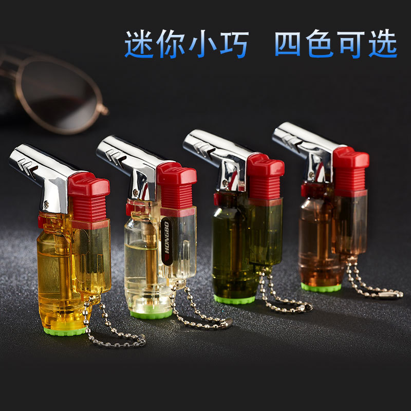 Image 3 - Elbow Portable Torch Lighter Turbo Jet Butane Pipe Cigar Lighter Spray Gun Gas 1300 C Windproof For Outdoor No Gas-in Matches from Home & Garden