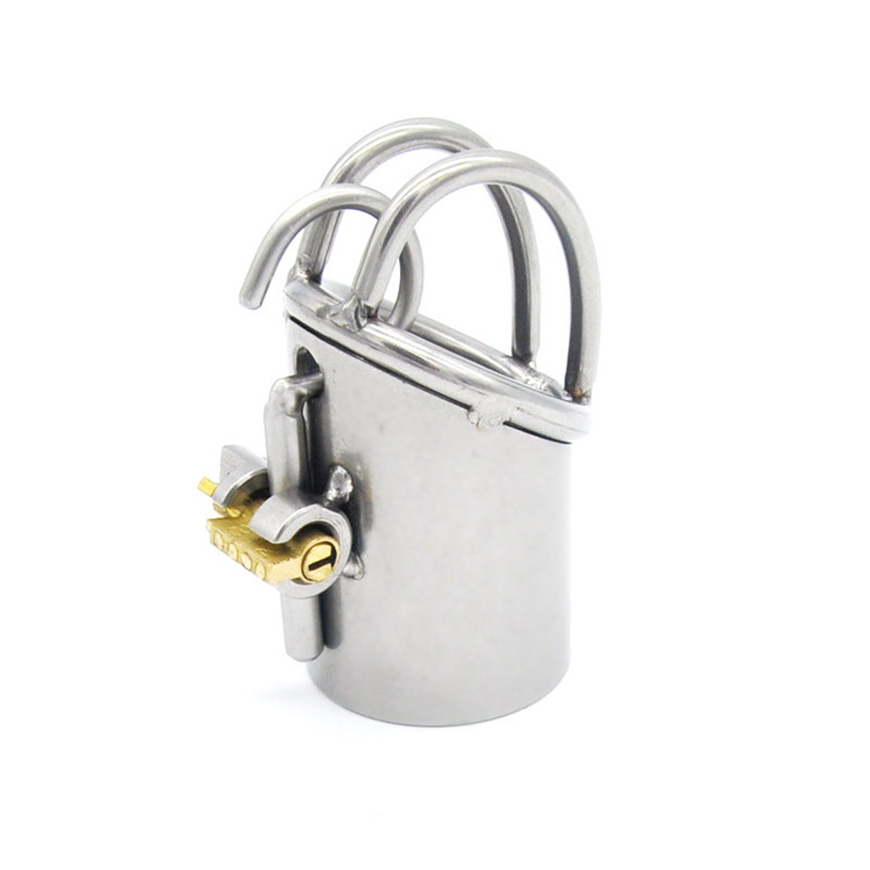 Buy Sex Shop Sex Toys Men Stainless Steel Male Chastity Belt Device Tube Jacket Penis Sleeve Cock Ring Cage Stealth Lock
