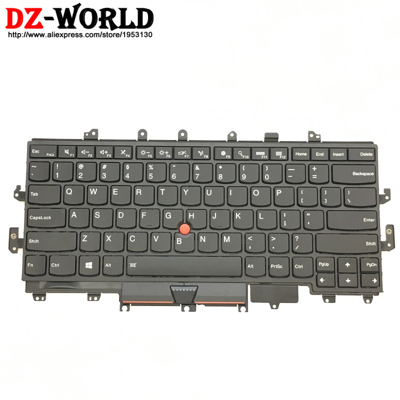 New Original for Lenovo Thinkpad X1 Yoga US English Backlit Keyboard Backlight Teclado 00PA042 SN20H34951 genuine new for lenovo thinkpad x1 helix 2nd 20cg 20ch ultrabook pro keyboard us layout backlit palmrest cover big enter