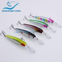 1PC, 10 colors to choose! 12.5cm 14g 3D eyes Minnow fishing lure trulinoya japan lure fishing pesca isca artificial Bait leurre