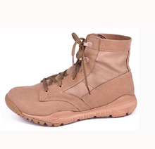 Spring Summer Men Ankle Combat  Light Comfortable Shoes Male Tactics Boots Desert Military Shoes Outdoor Hiking Boots Plus Size