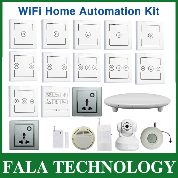 DHL Free shippping smart home system kit control by mobile via 2/3/4G WiFi network home automation competele system promotion