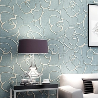 3D Embossed European Style Wallpapers Living Room Bedroom wall Background 3d Wall Papers Home Decor 3d Non woven Wall Paper Roll