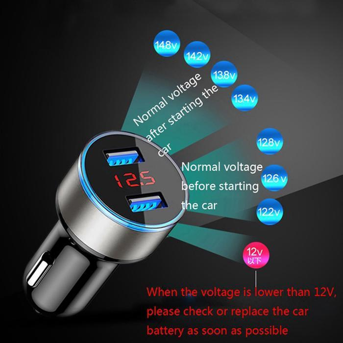 HTB1iTSNFCtYBeNjSspkq6zU8VXaE - 3.1A 5V Dual USB Car Charger LED Display Quick Charge 3.0 Moblie Phone Fast Charging Car Charger for iPhone Samsung Tablet Auto